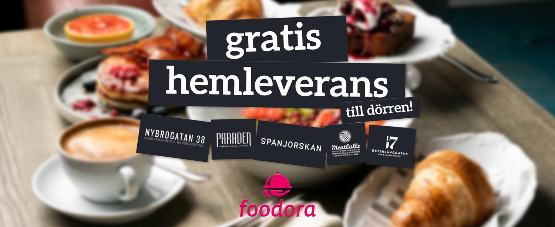 Gratis hemleverans Foodora Paraden